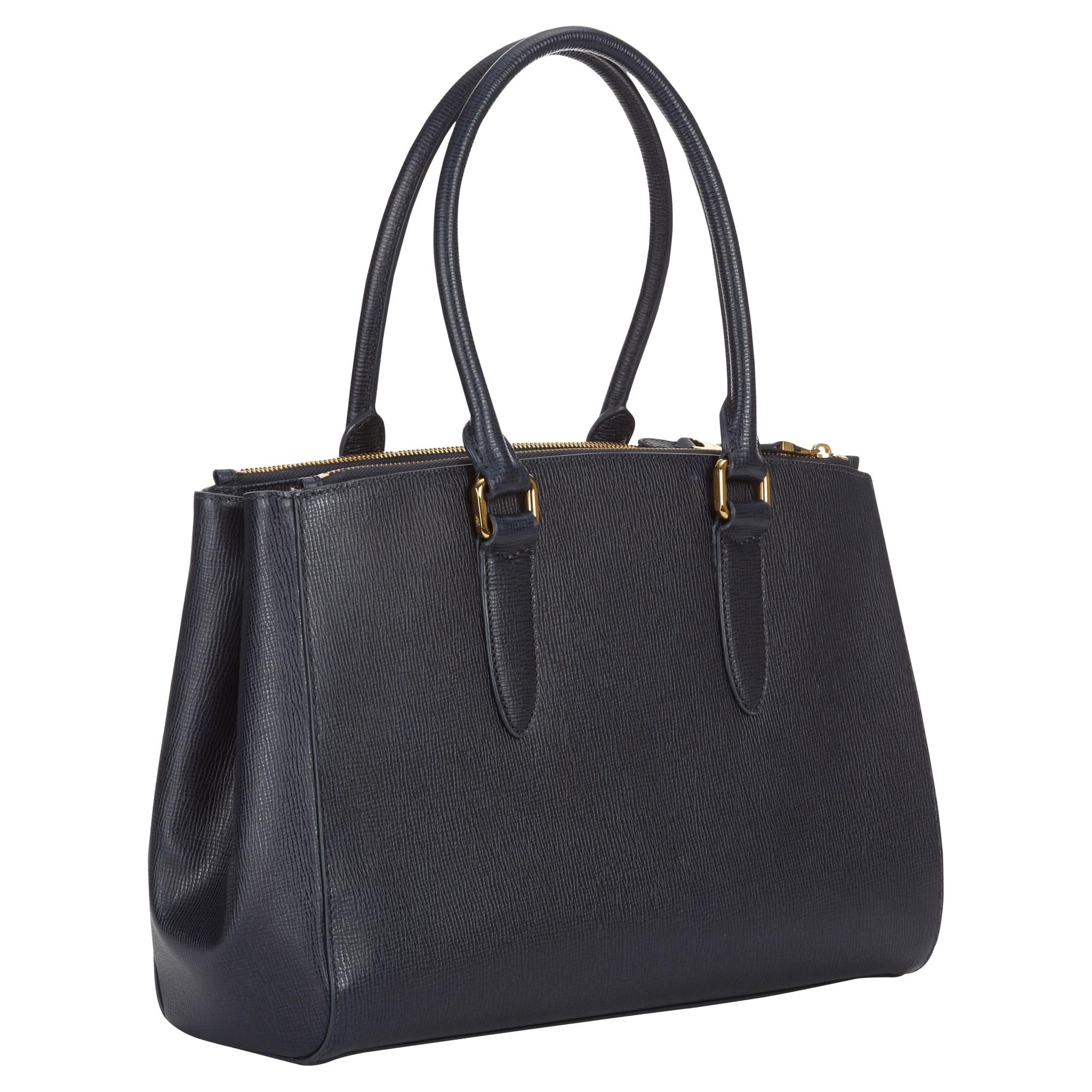 Lyst Jaeger Marshall Leather Handbag In Blue