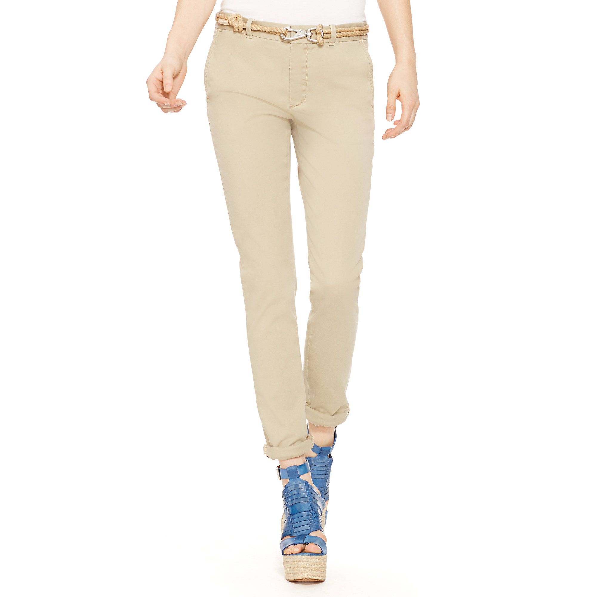 Polo Ralph Lauren Women's Brooke - Khaki - Chinos