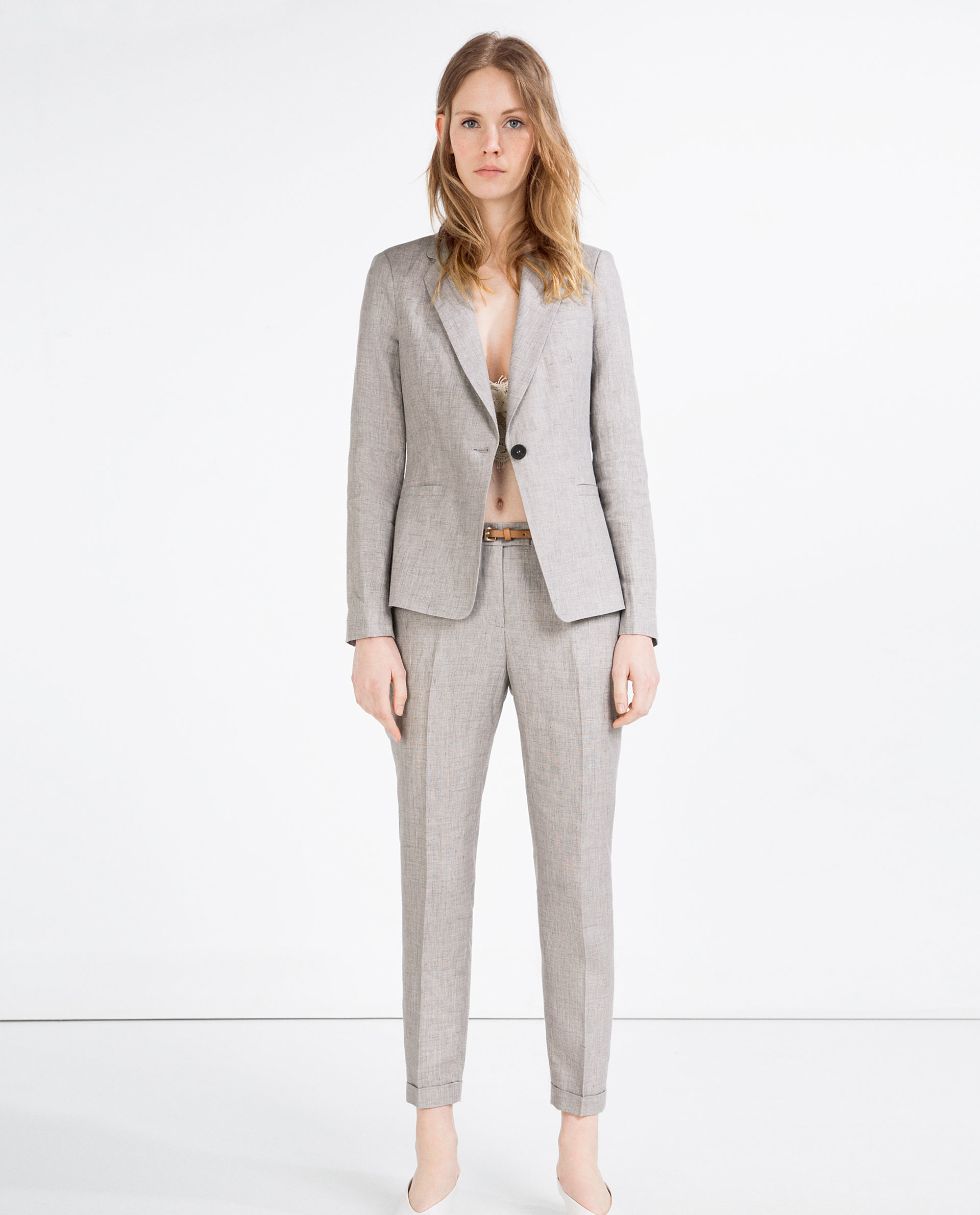 Awesome James Perse Summer Linen Pants In Gray Greystone  Lyst