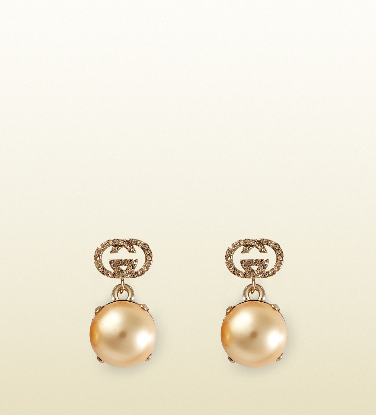 c22e2519675 Gucci Earrings With Pearl Effect Glass in Metallic - Lyst
