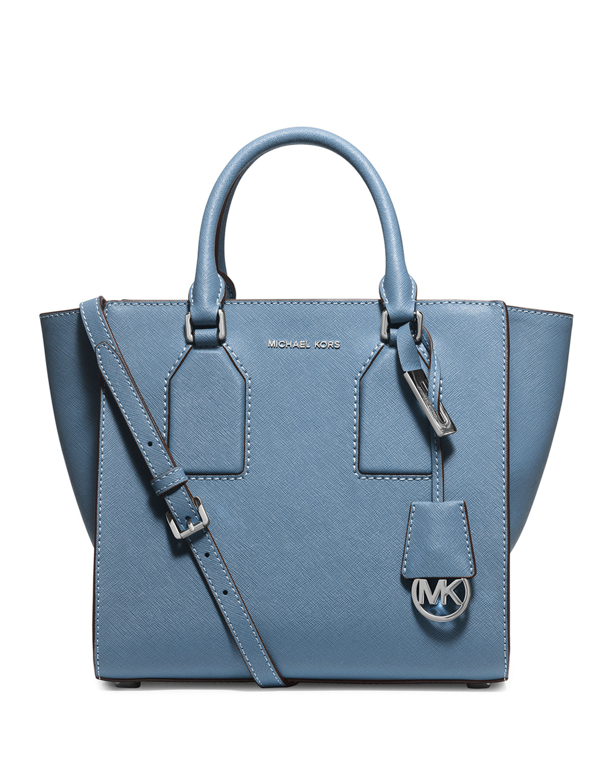 e2eb069d4ddf63 Lyst - MICHAEL Michael Kors Selby Medium Zip-top Satchel Bag in Blue