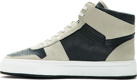 Common Projects Ssense Exclusive Grey and Navy Leather ...