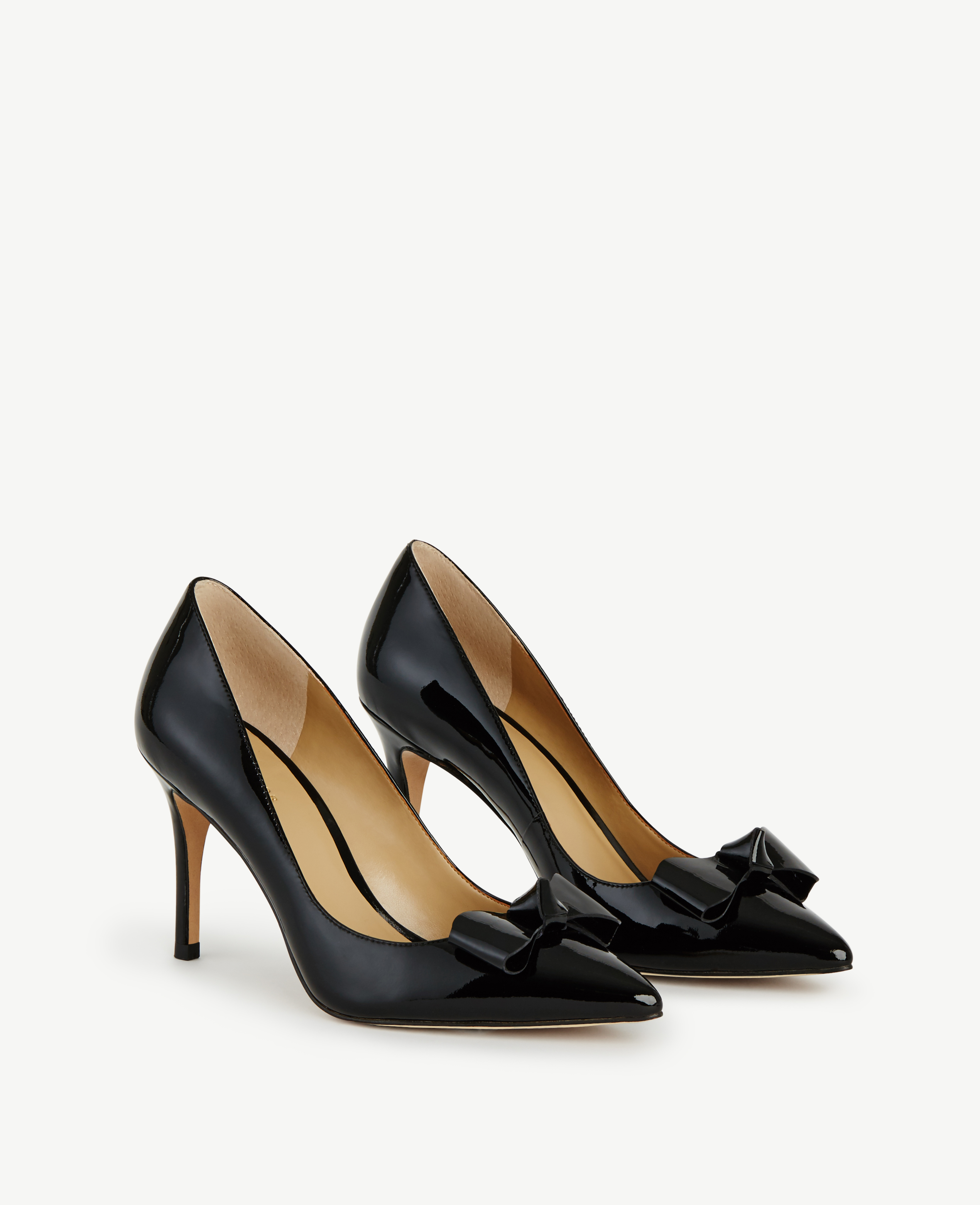 Lyst Ann Taylor Charlie Patent Bow Pumps In Black