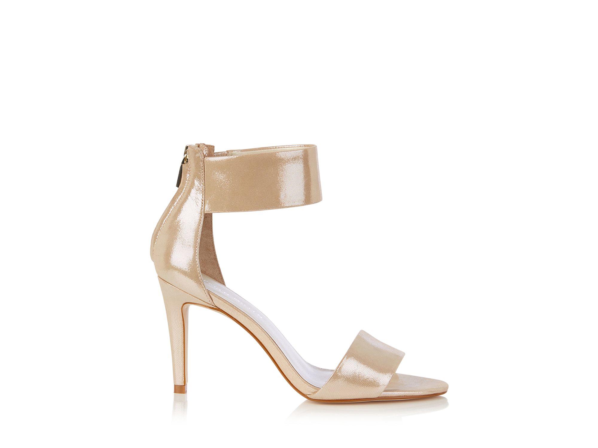 Karen Millen Women's Embellished Ankle Cuff High Heel Sandals XTe9h