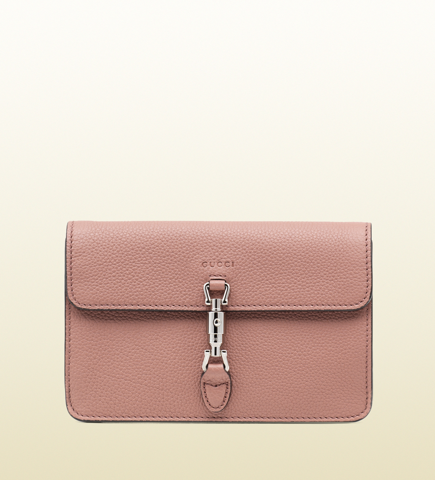 b05180c9744 Lyst - Gucci Jackie Soft Leather Wallet in Pink