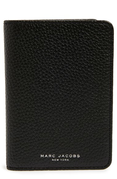 Marc Jacobs Gotham Leather Passport Case In Blue For Men