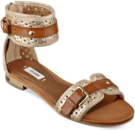 fc64bfd78 Guess Gold Flat Sandals ~ Gold Sandals