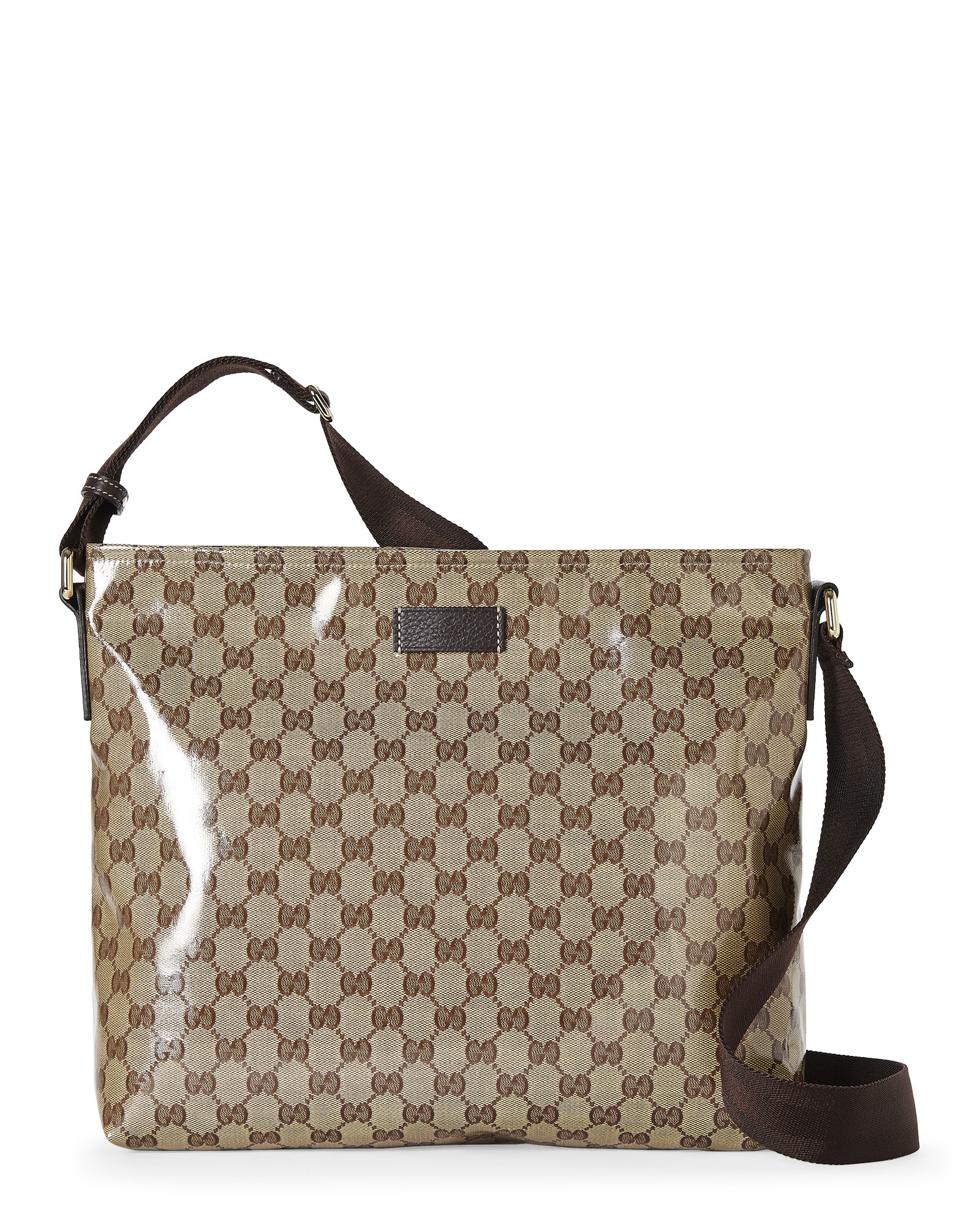 05974136ee6 Lyst - Gucci Beige Gg Crystal Canvas Messenger Bag in Natural