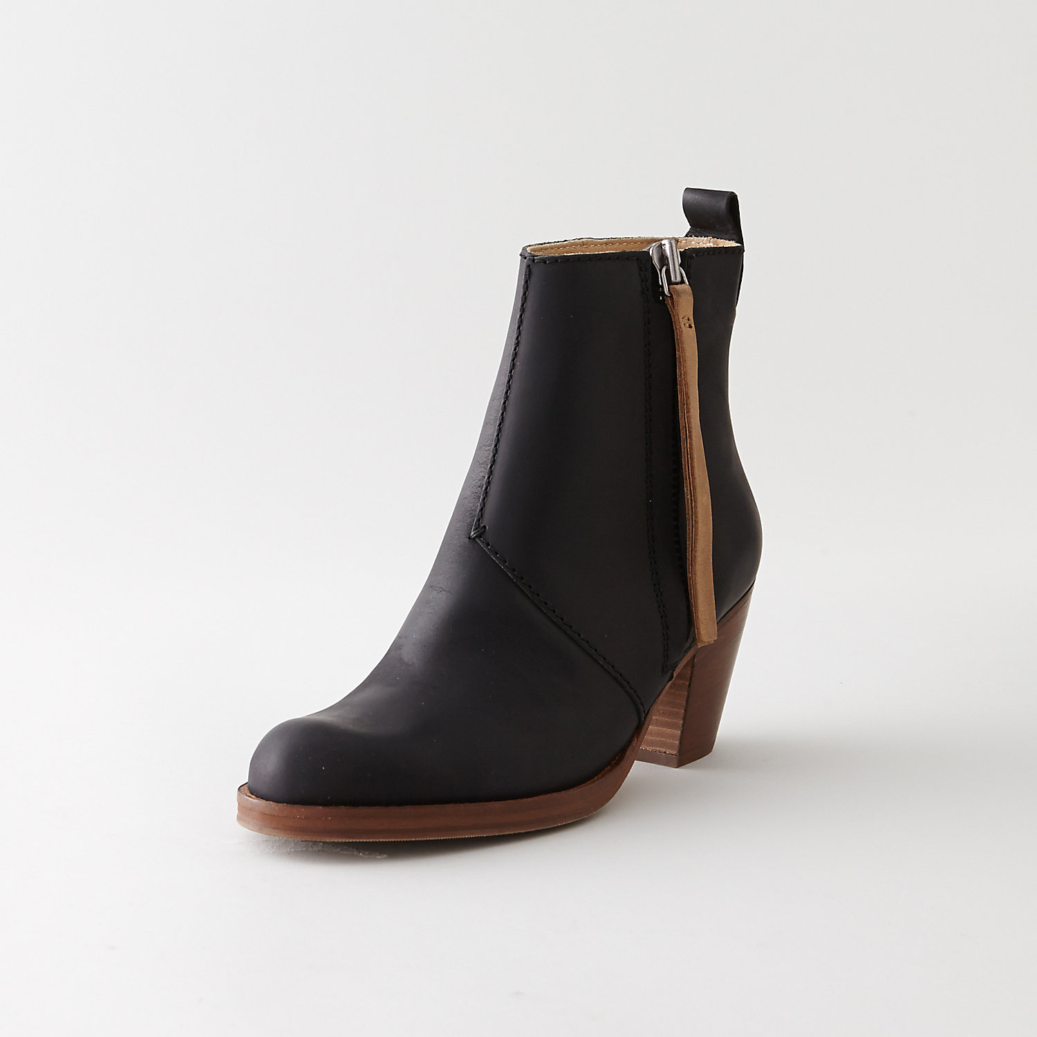 Acne Pistol Short Boot Contrast in Black | Lyst