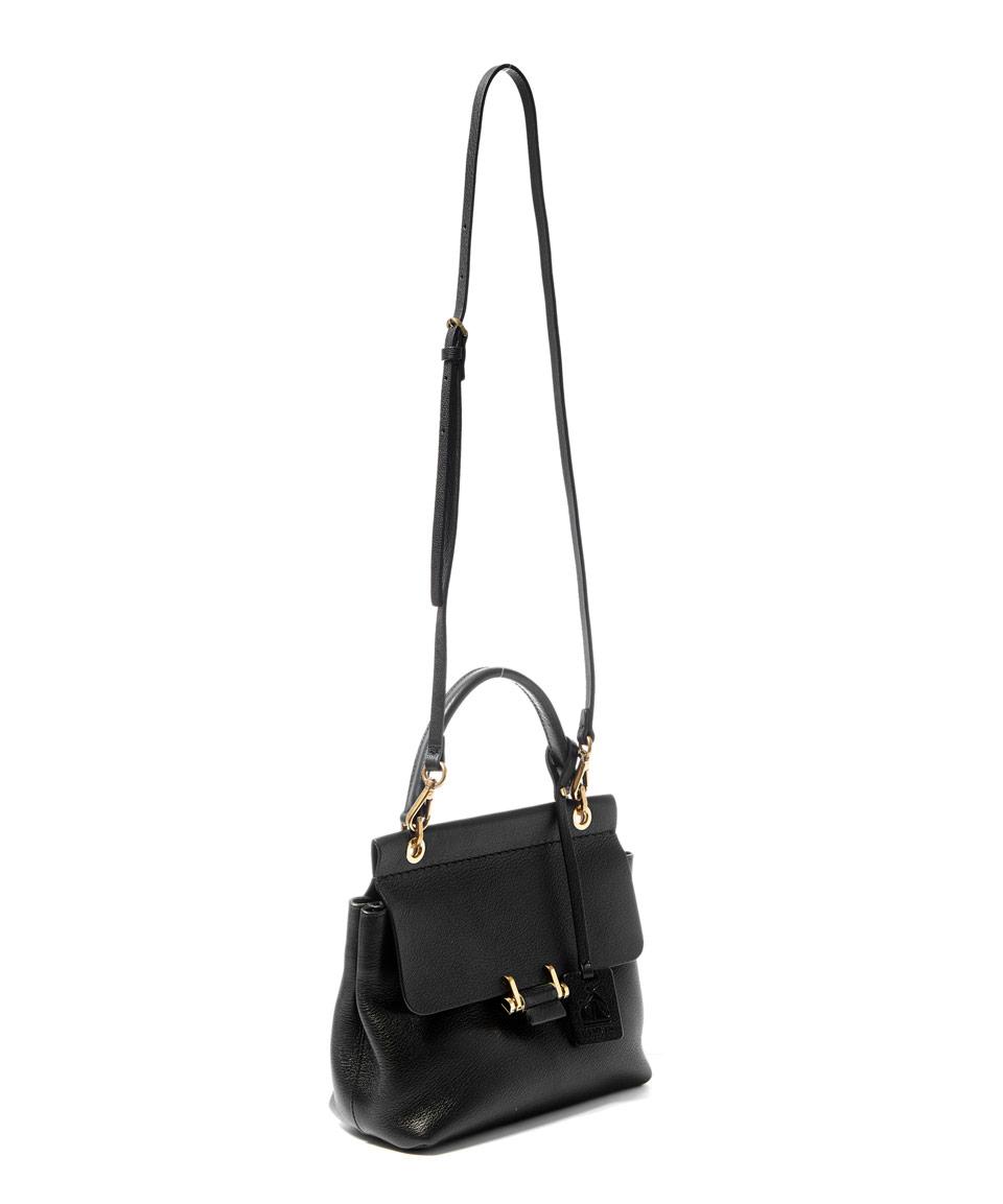 a27561ec33ea Lanvin Mini Black Top Handle Leather Cross-body Bag in Black - Lyst