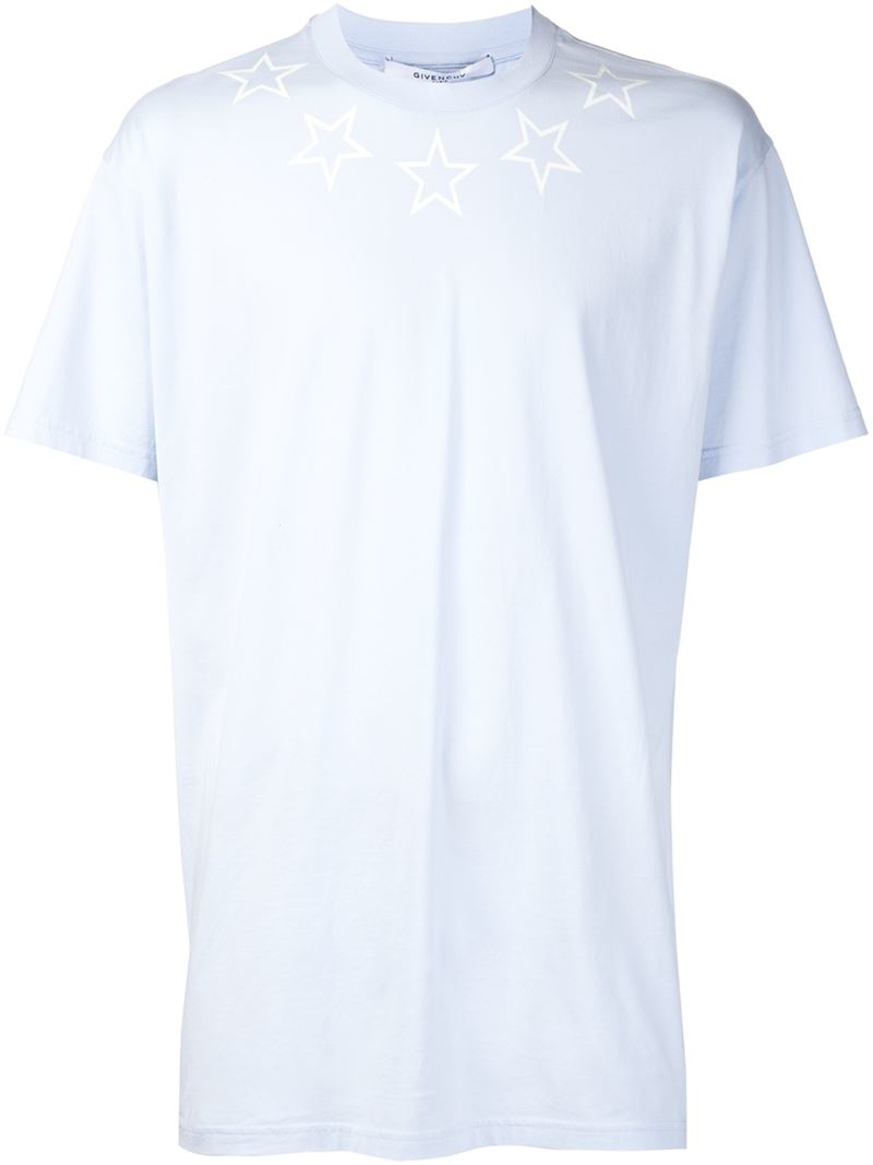 Lyst Givenchy Star Print T Shirt In Blue For Men