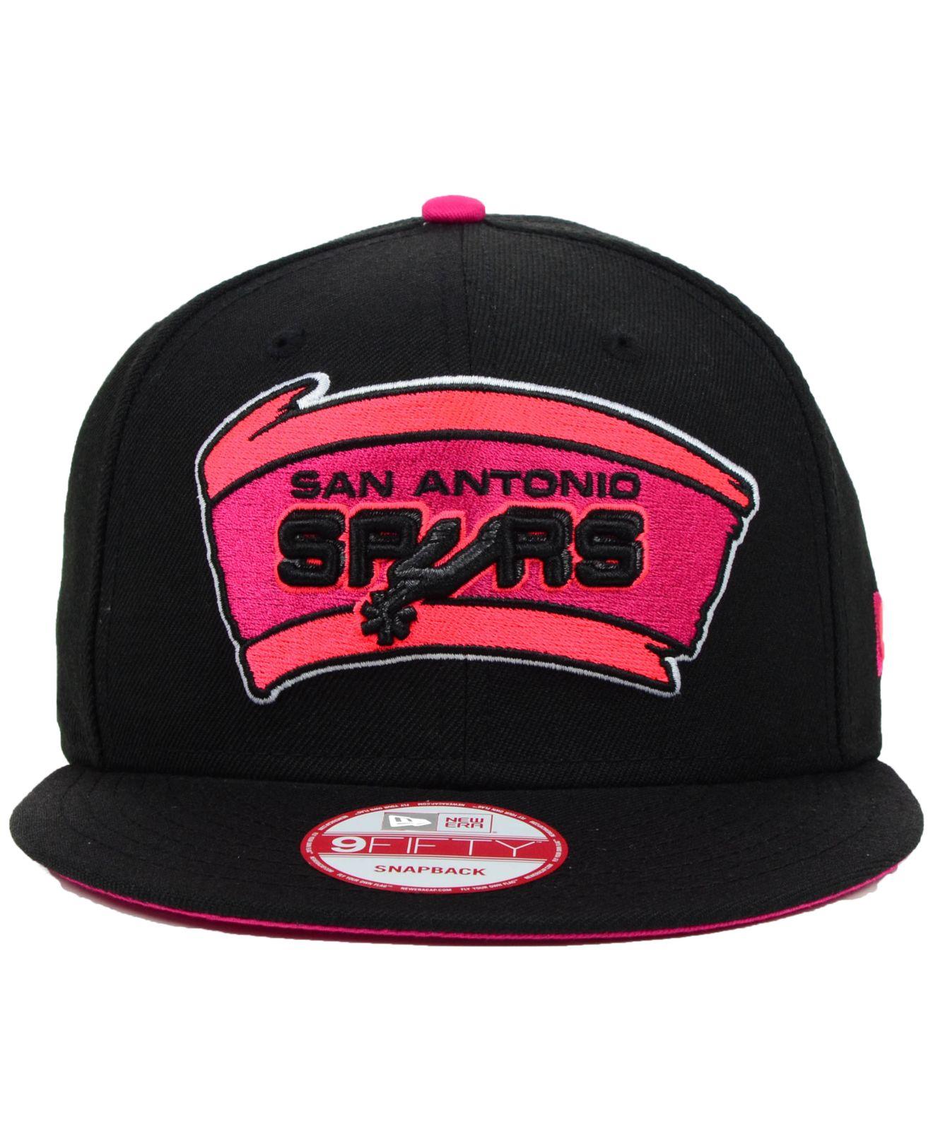 super popular 40dd1 11b0a Lyst - KTZ San Antonio Spurs Hardwood Classics Neon Time 9Fifty ...