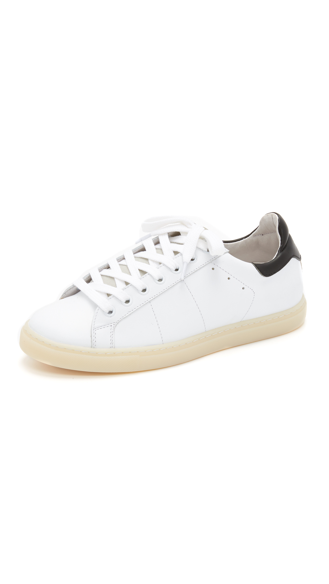 From China Low Shipping Fee Iro Jeans Prissy Leather Sneaker(Women's) -White/Red Fast Express Sunshine Discount Fashion Style CGKQ6RdxA