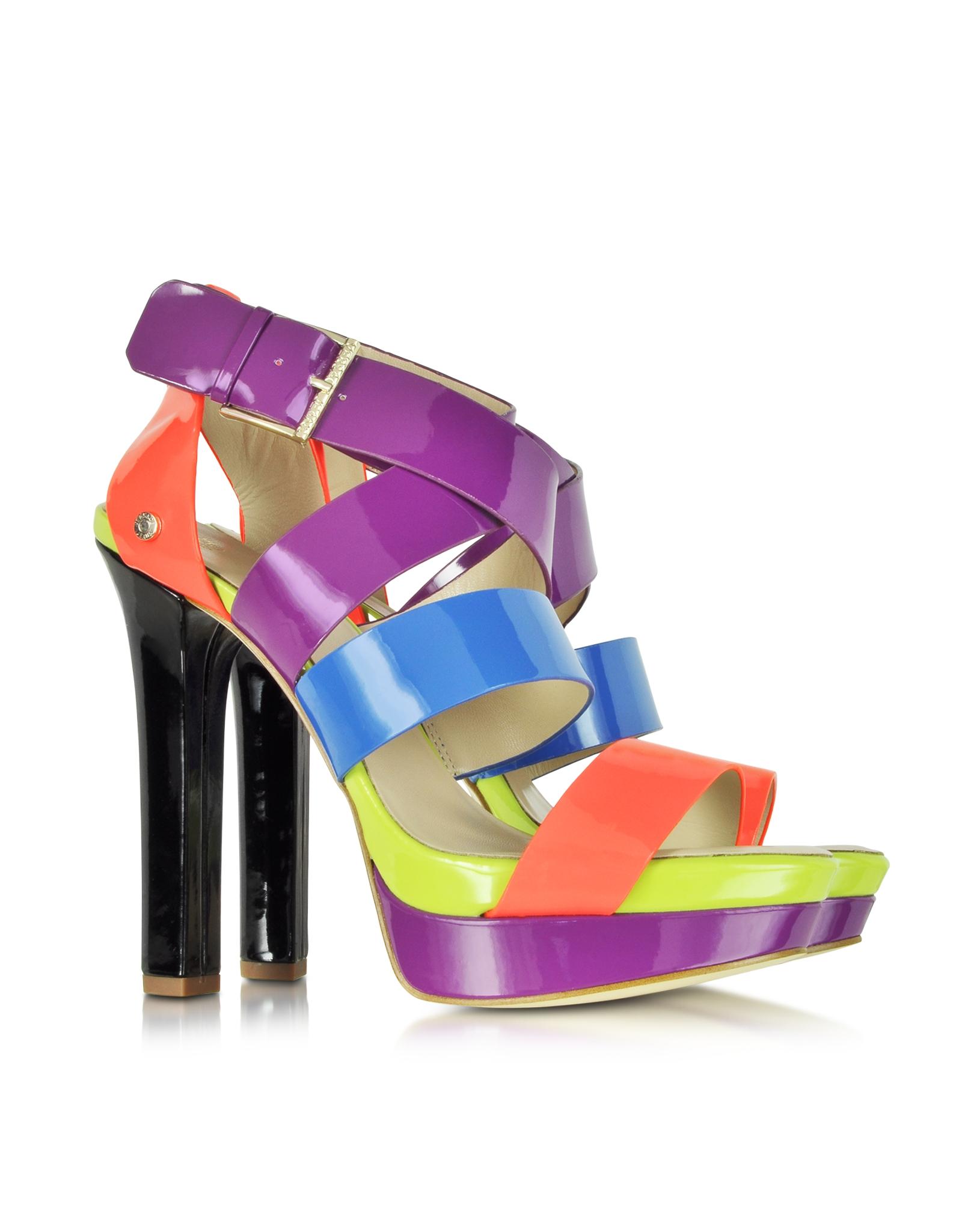 Multi Color 6pcs Honeycomb Handle Design Ombre Makeup: Versace Jeans Multi Color Patent Eco Leather High