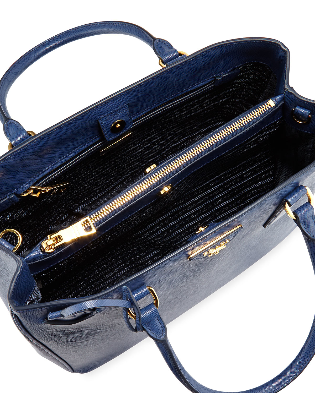 Prada Saffiano Lady Tote Bag in Blue | Lyst