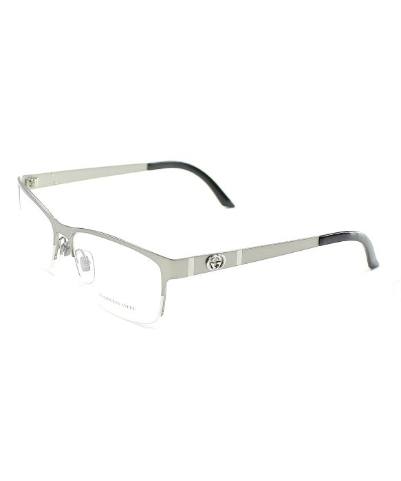 gucci gg 4236 cqk ruthenium semi rimless eyeglasses in