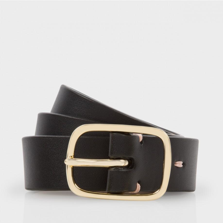 paul smith s black calf leather mainline belt in