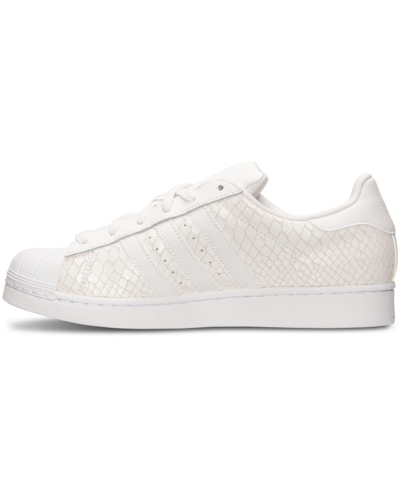 Lyst - adidas Originals Women s Superstar Casual Sneakers From Finish Line  in White 66ac04b24