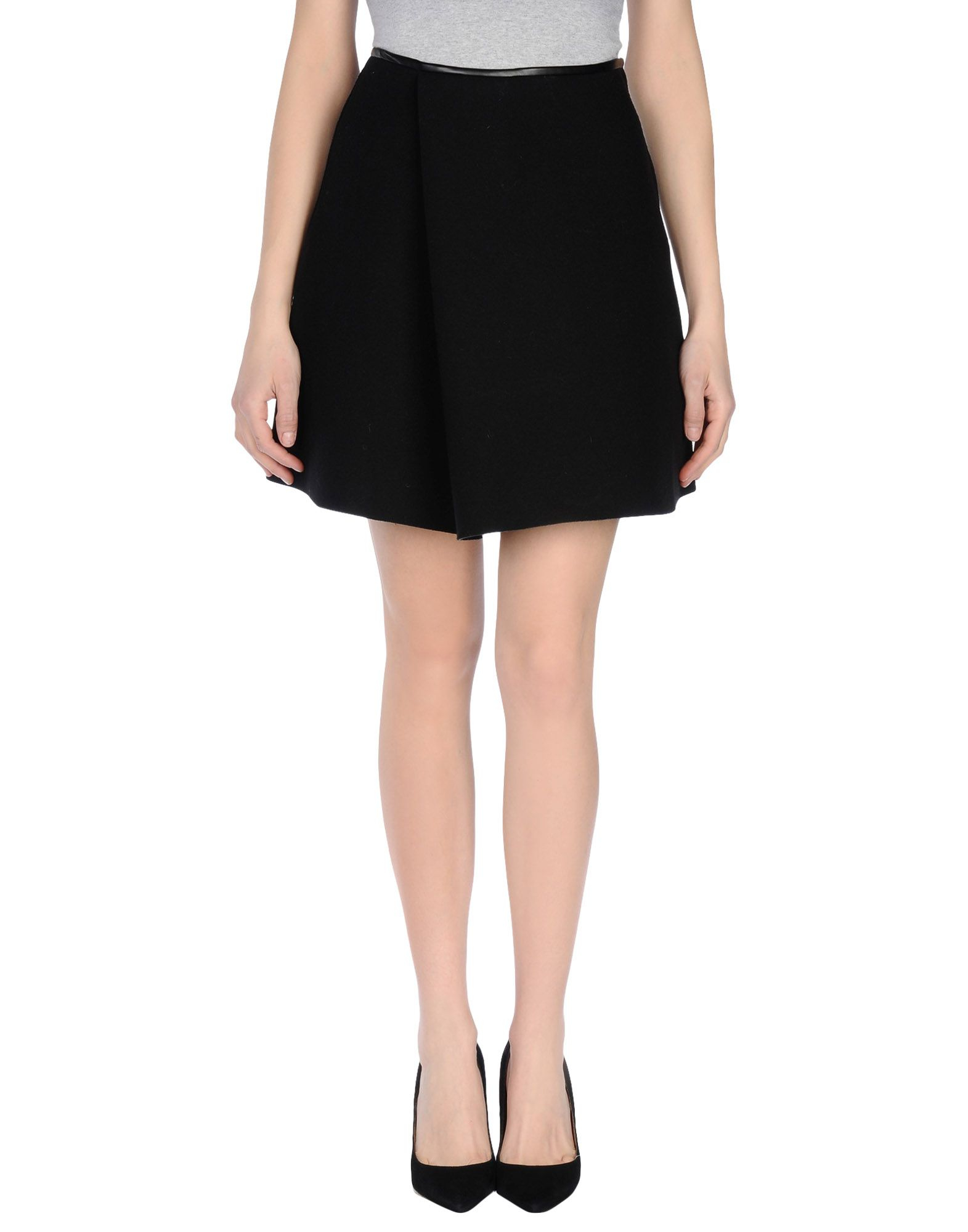 3 1 phillip lim knee length skirt in black lyst