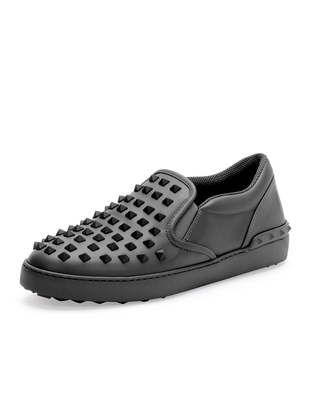 Lyst Valentino Rockstud Mens Slip On Sneaker In Black For Men