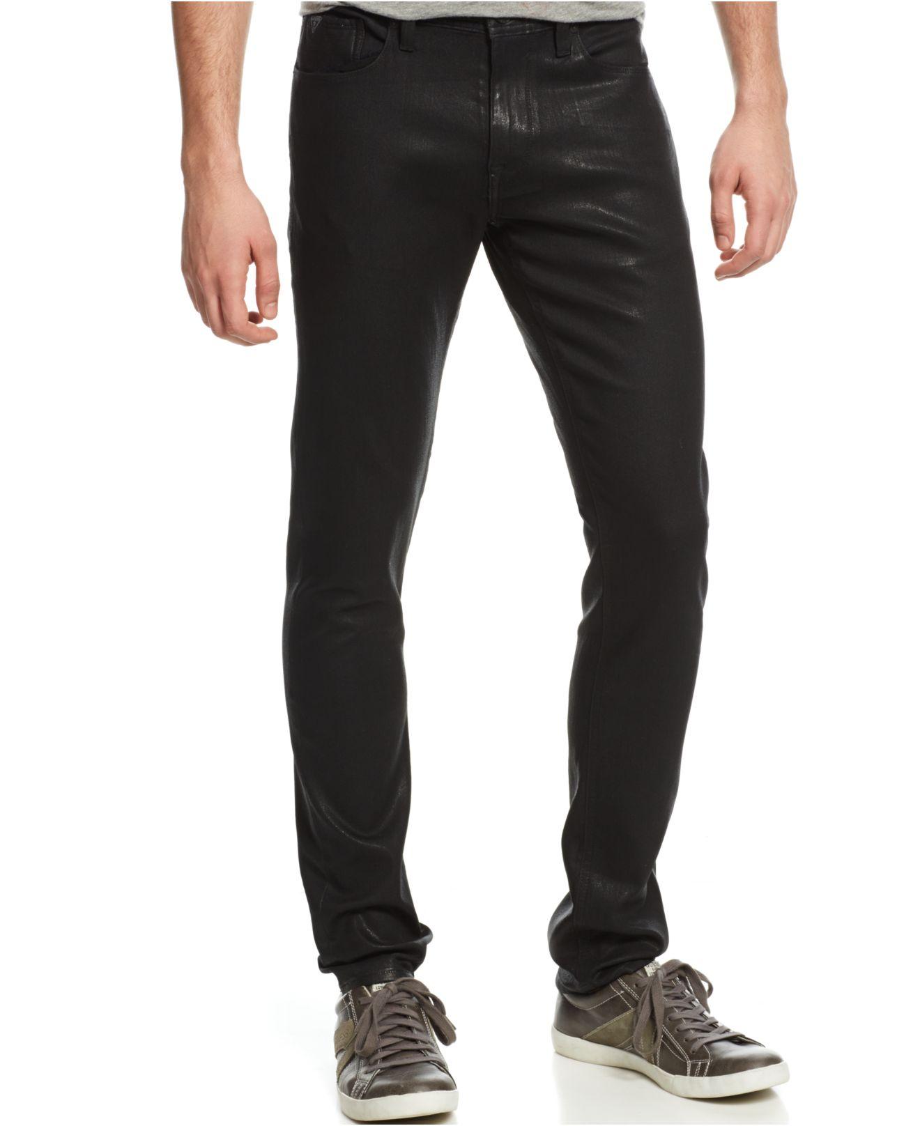 Mens Slim Fit Black Jeans