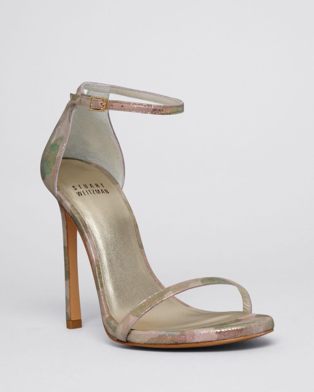 open-toe sandals - Metallic Stuart Weitzman VHNLPuvgI1