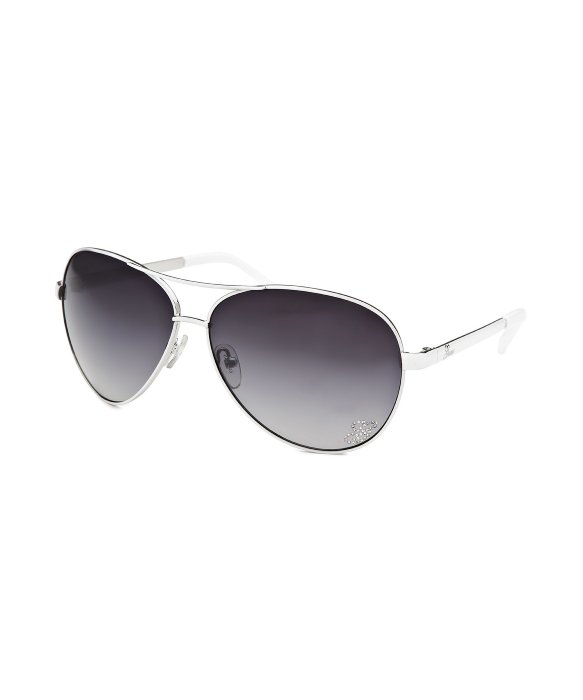 Guess White Aviator Sunglasses  guess women s aviator white sunglasses in white lyst