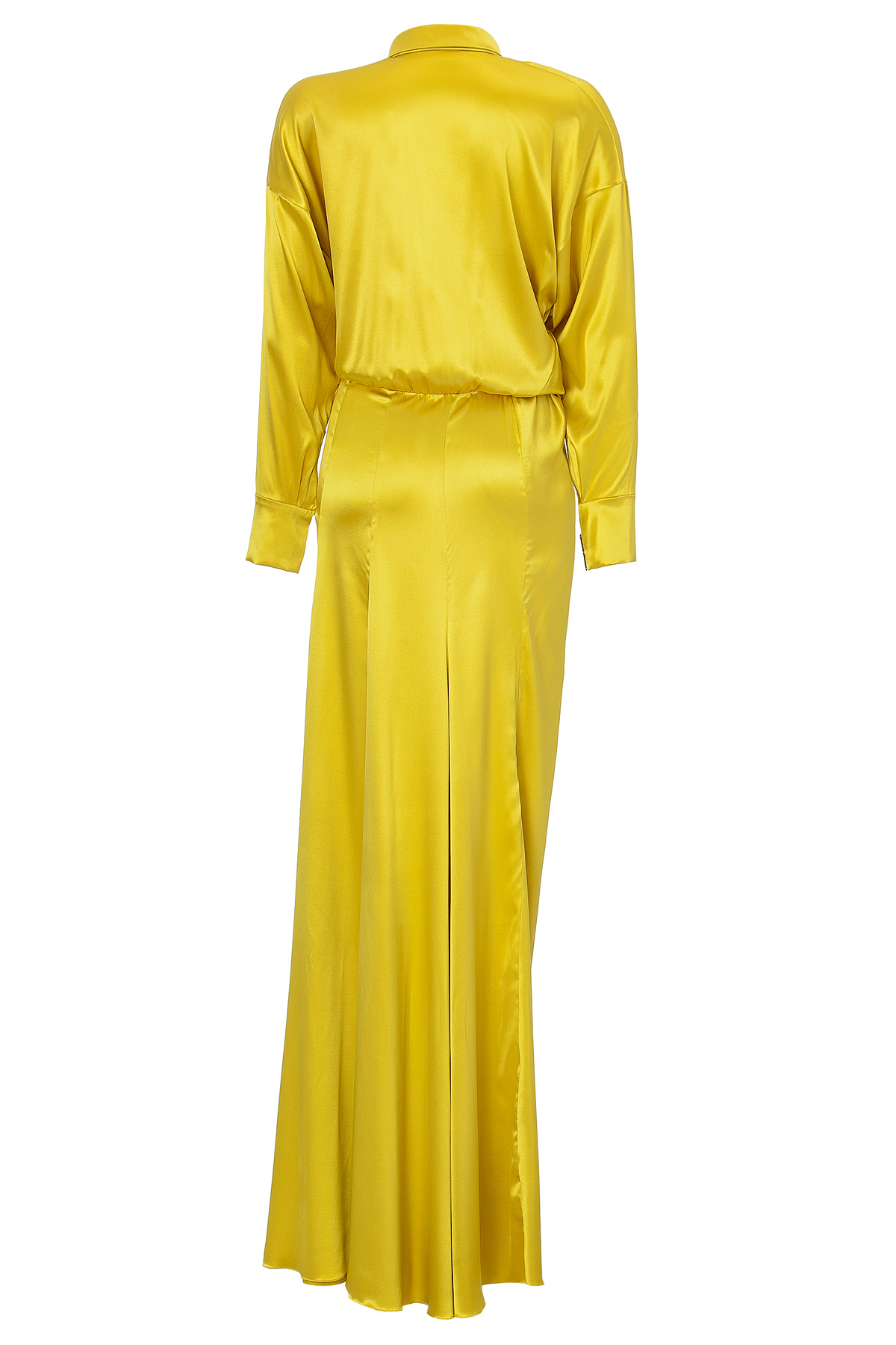 Alexandre vauthier yellow silk dress