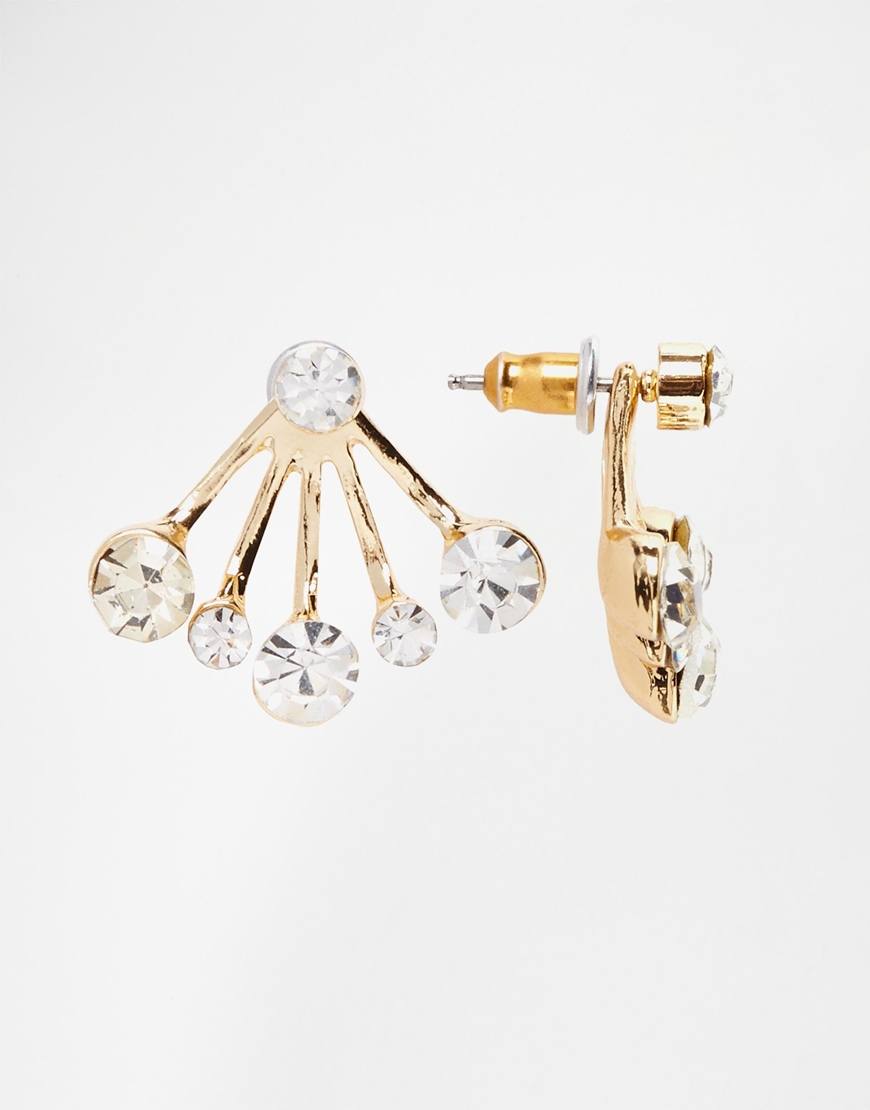 Asos Multi Jewel Swing Earrings in Metallic | Lyst