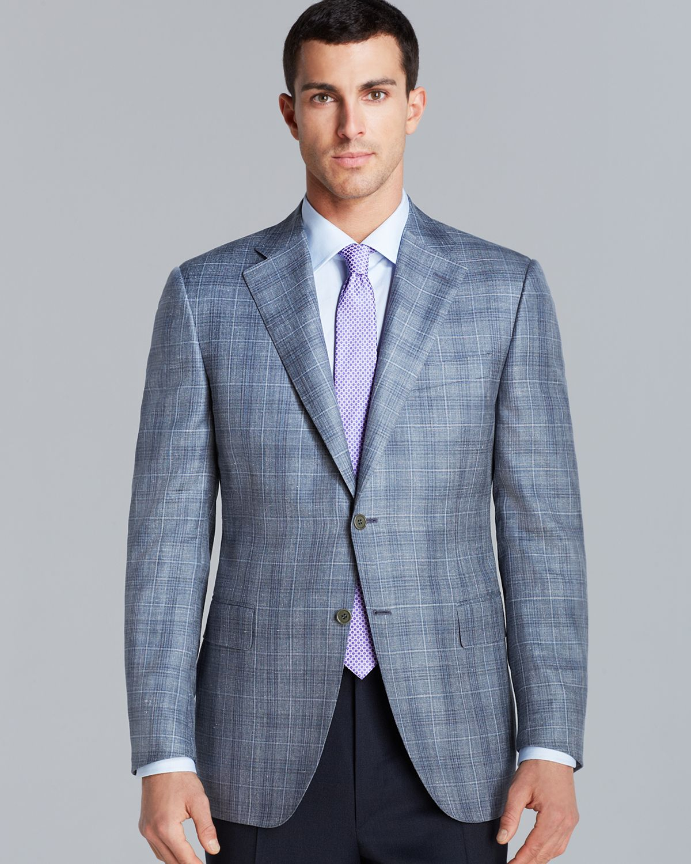 Lyst Canali Siena Plaid Sport Coat Regular Fit In Gray