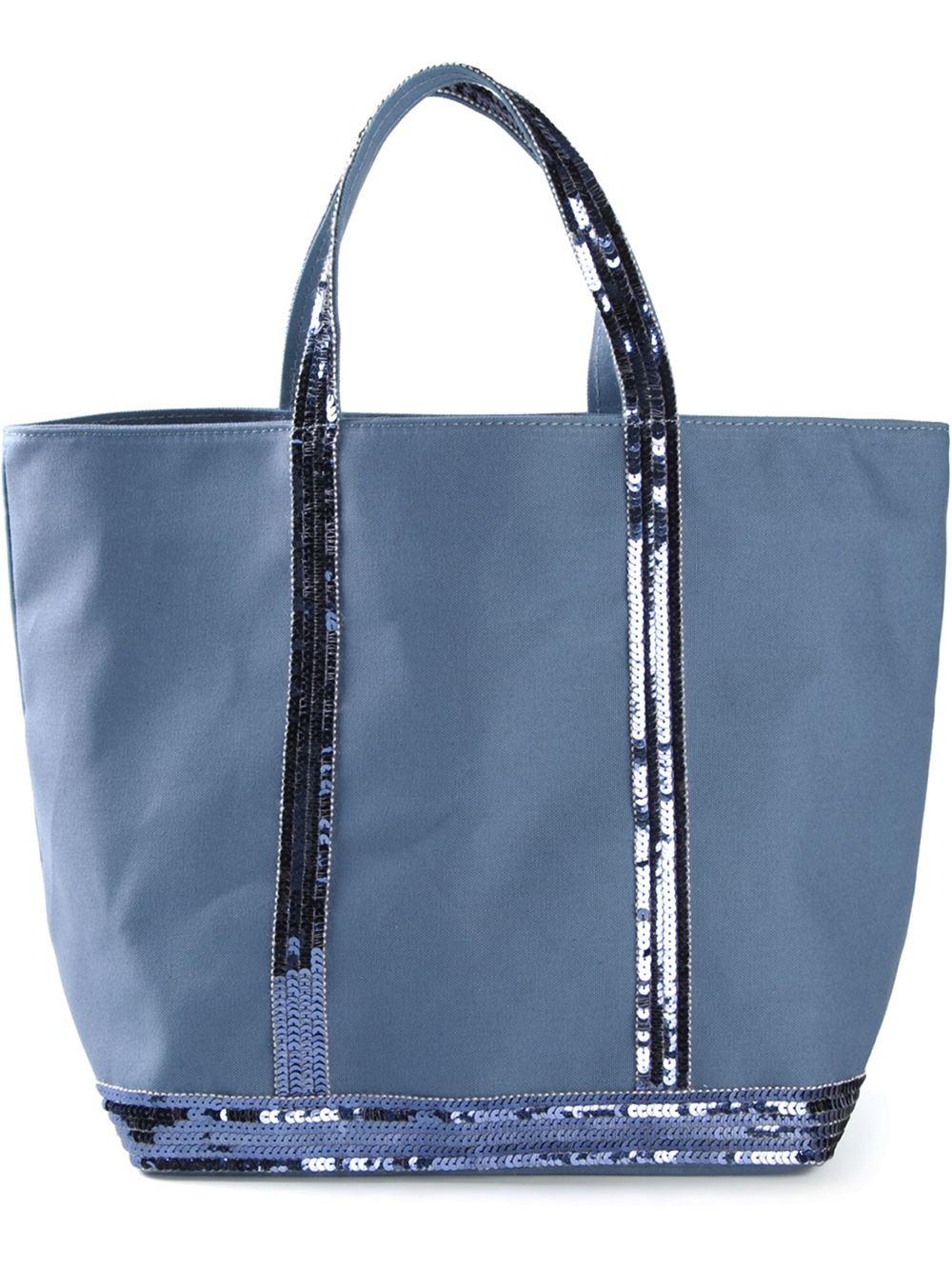 lyst vanessa bruno 39 cabas 39 tote bag in blue. Black Bedroom Furniture Sets. Home Design Ideas