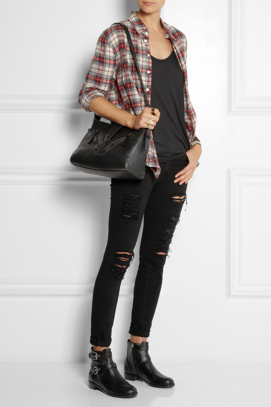 c035f425 KENZO Kalifornia Leather Shoulder Bag in Black - Lyst