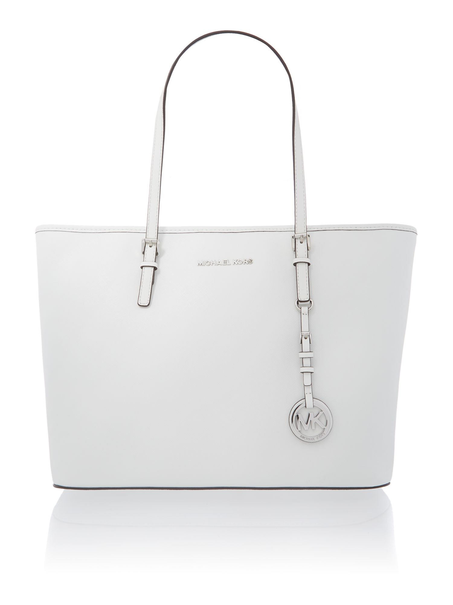 Michael kors Jet Set Travel White Tote Bag in White | Lyst