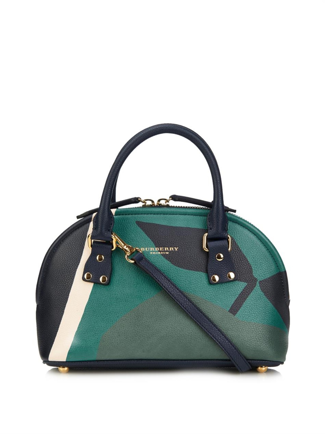 e2424c7f77aa Lyst - Burberry Prorsum Bloomsbury Orchard-Print Small Bowling Bag ...