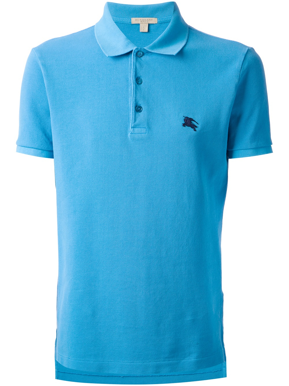 Burberry Brit Logo Embroidered Polo Shirt In Blue For Men