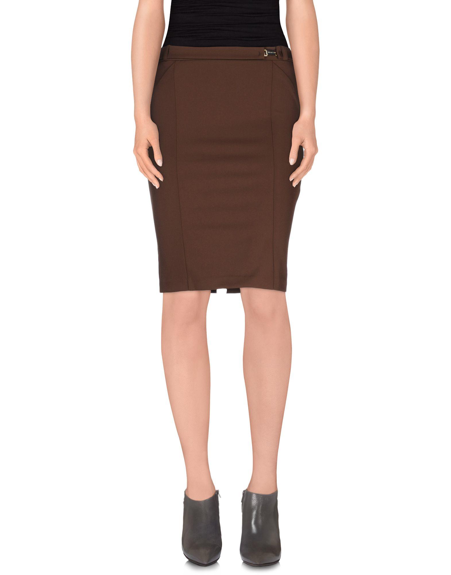 annarita n knee length skirt in brown lyst