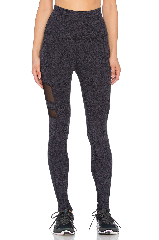 Beyond yoga Space Dye High Waist Striped Mesh Long Legging in ...