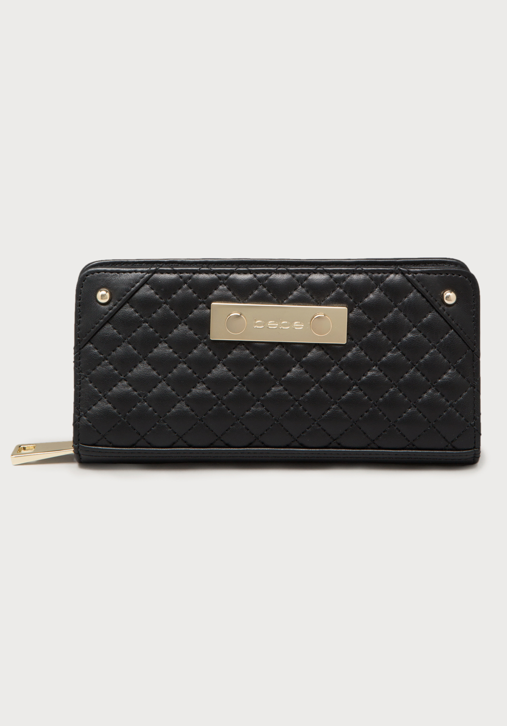 Bebe Quilted Leather Wallet In Black Lyst