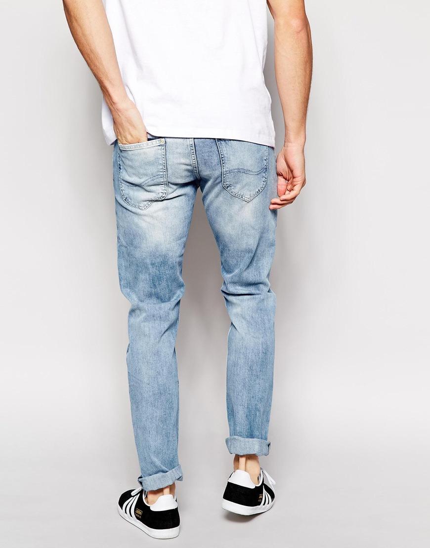 742456db00 Lyst - Lee Jeans Jeans Luke Skinny Fit Spring Cloud Acid Wash in ...