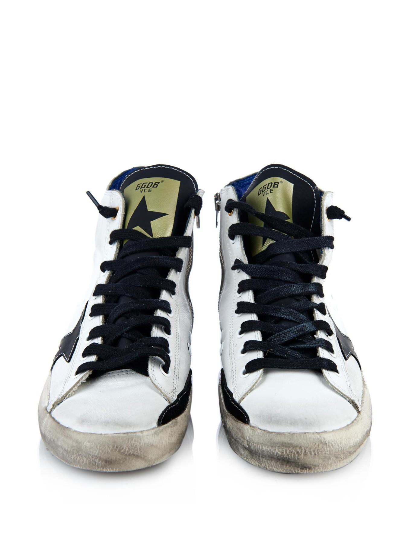 Golden Goose Deluxe Brand Francy high-top leather sneakers outlet order online sale tumblr TJKbI0