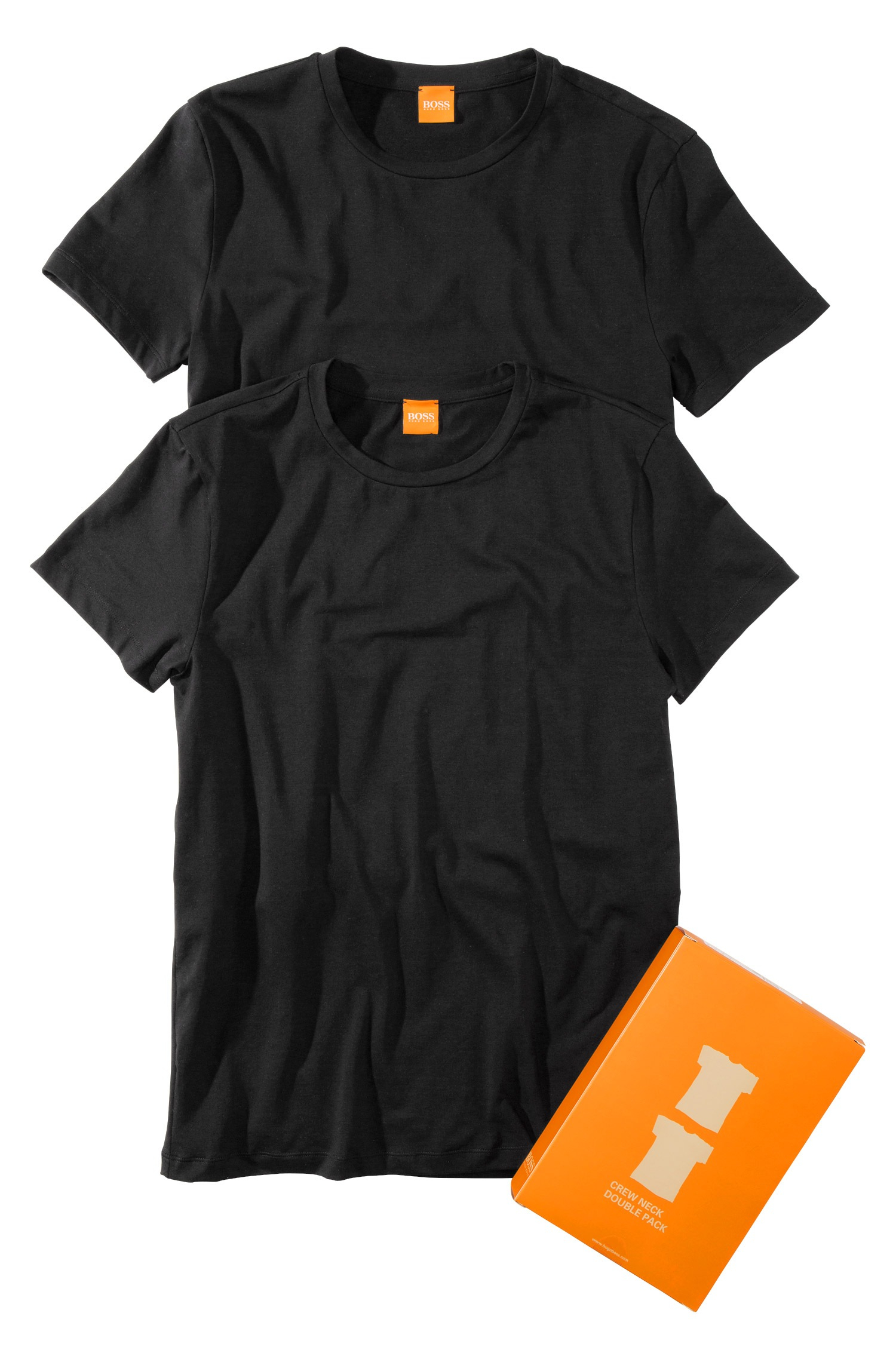 lyst boss orange t shirt 39 tedd 39 in a pack of 2 in black. Black Bedroom Furniture Sets. Home Design Ideas