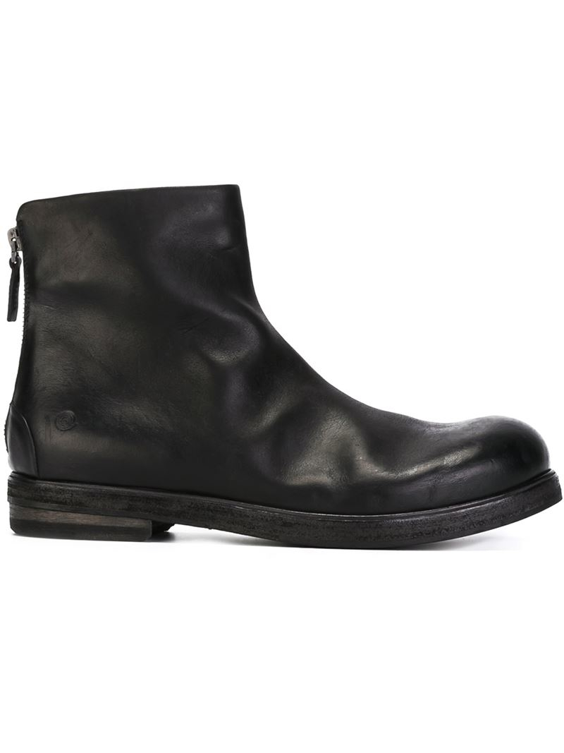 Marsèll Back Zip Boots in Black