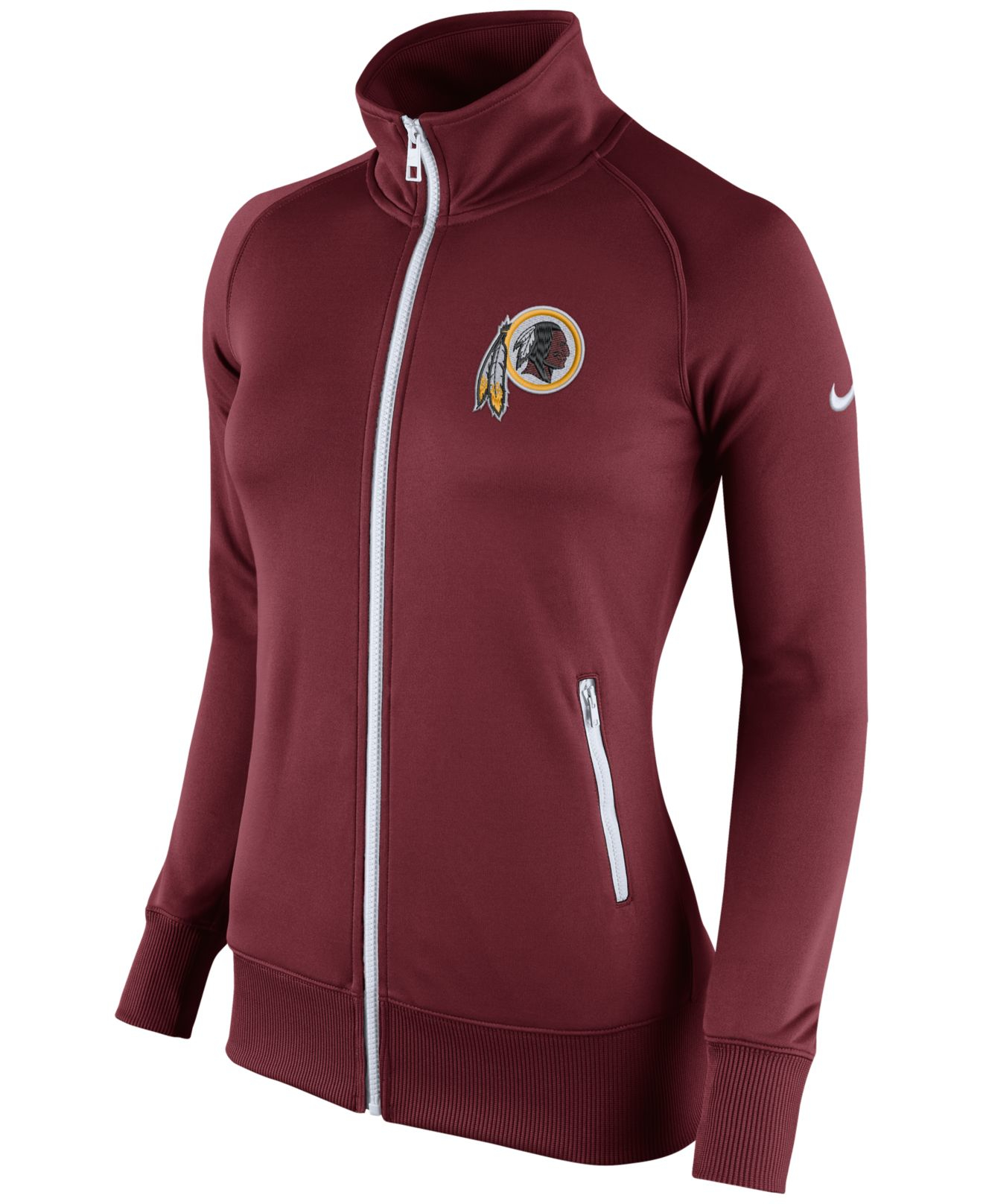 f34b6bad6 Lyst - Nike Women s Washington Redskins Stadium Track Jacket in Red