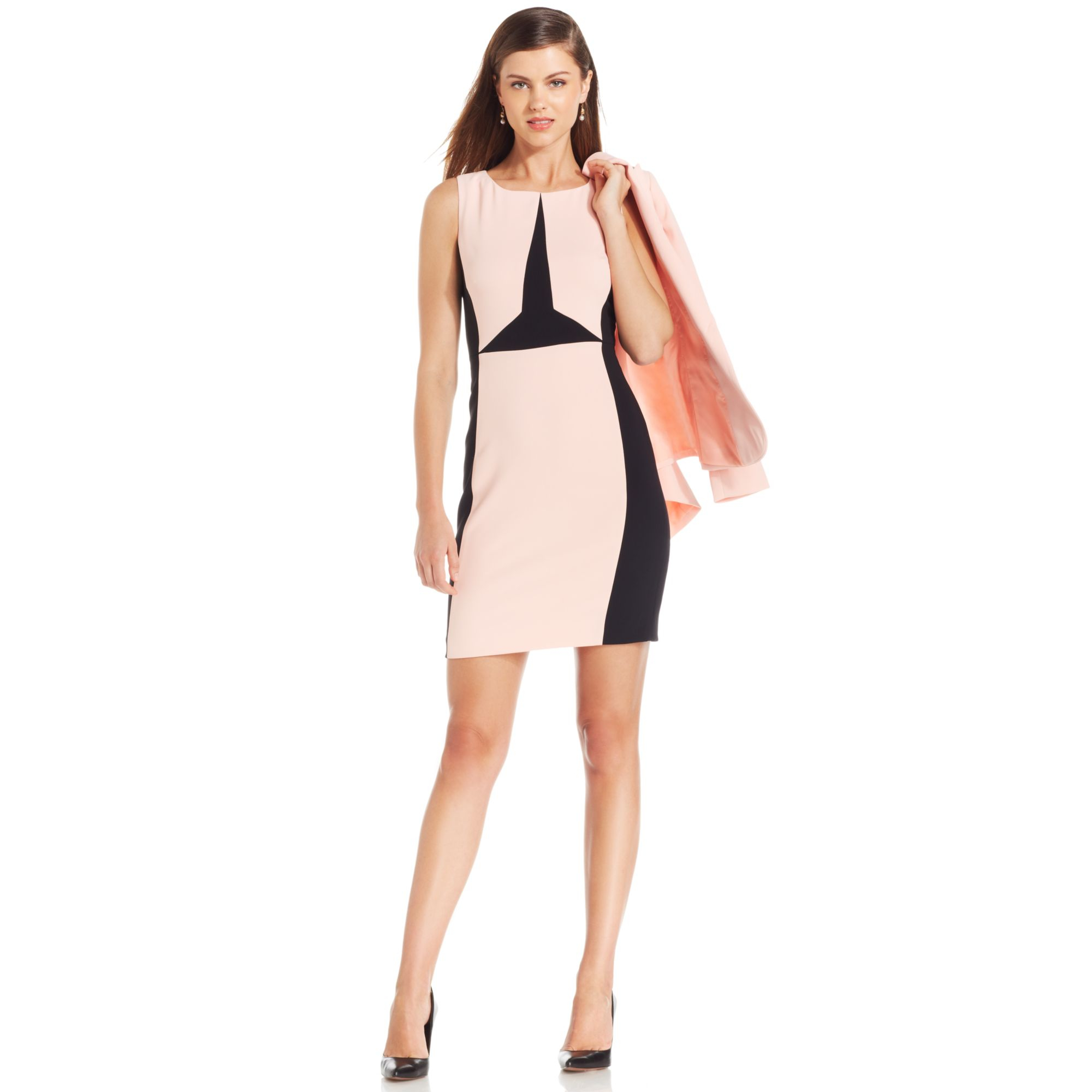 abb89aa3 Ivanka Trump Colorblock Sheath Dress in Pink - Lyst