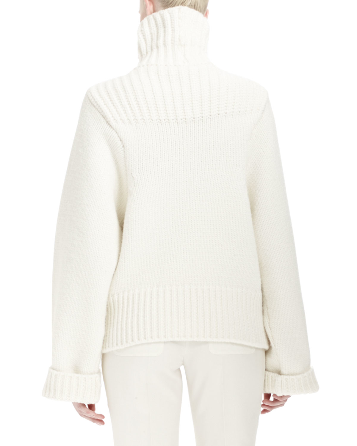 Stella mccartney Long-sleeve Turtleneck Sweater in White | Lyst