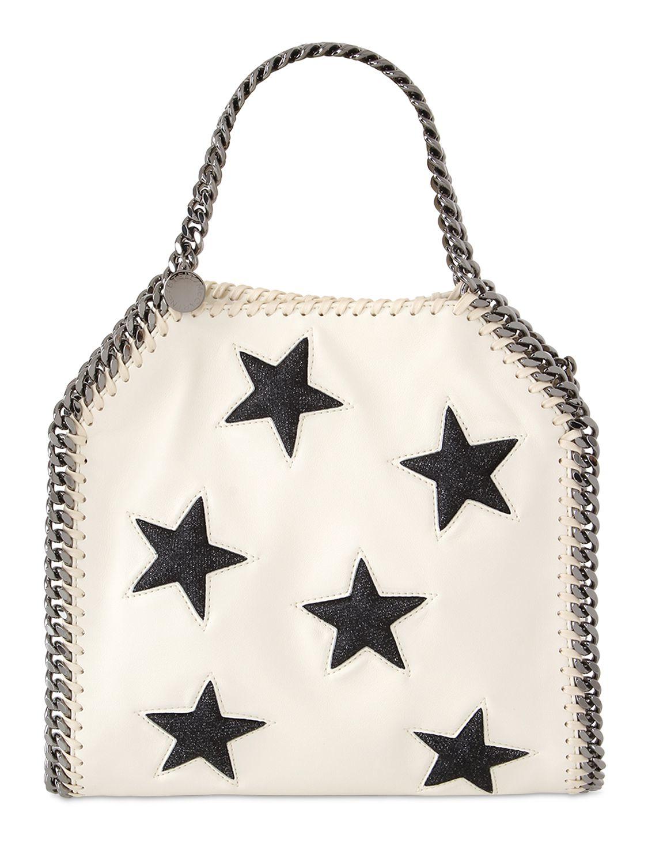 d1803c0328e1 Lyst - Stella McCartney Mini 3chain Falabella Stars Shoulder Bag in ...
