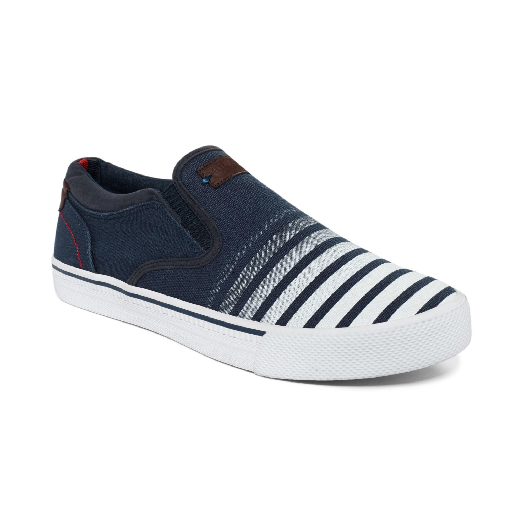 Lyst Tommy Hilfiger Rawley Slipon Sneakers In Blue For Men