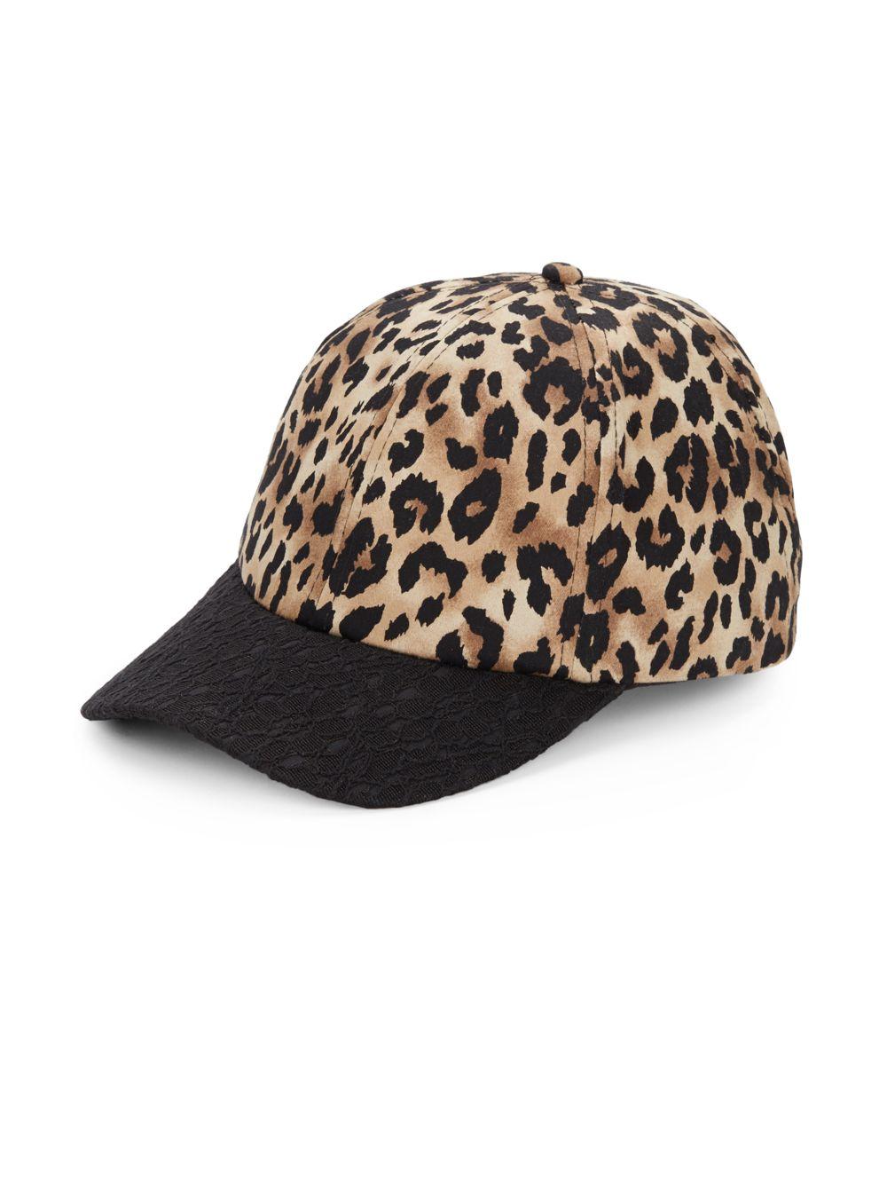 Lyst - Saks Fifth Avenue Lace   Leopard-Print Baseball Cap 408d85d30c2