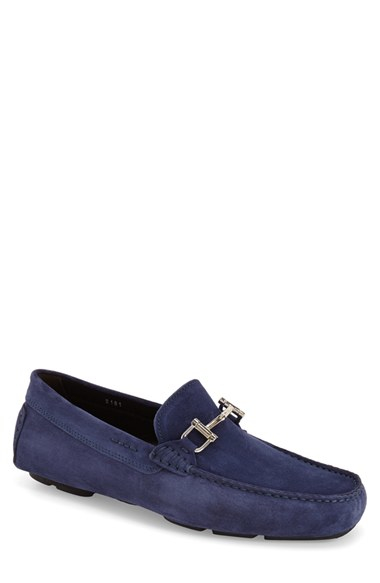 to boot suede driving shoes in purple for lyst