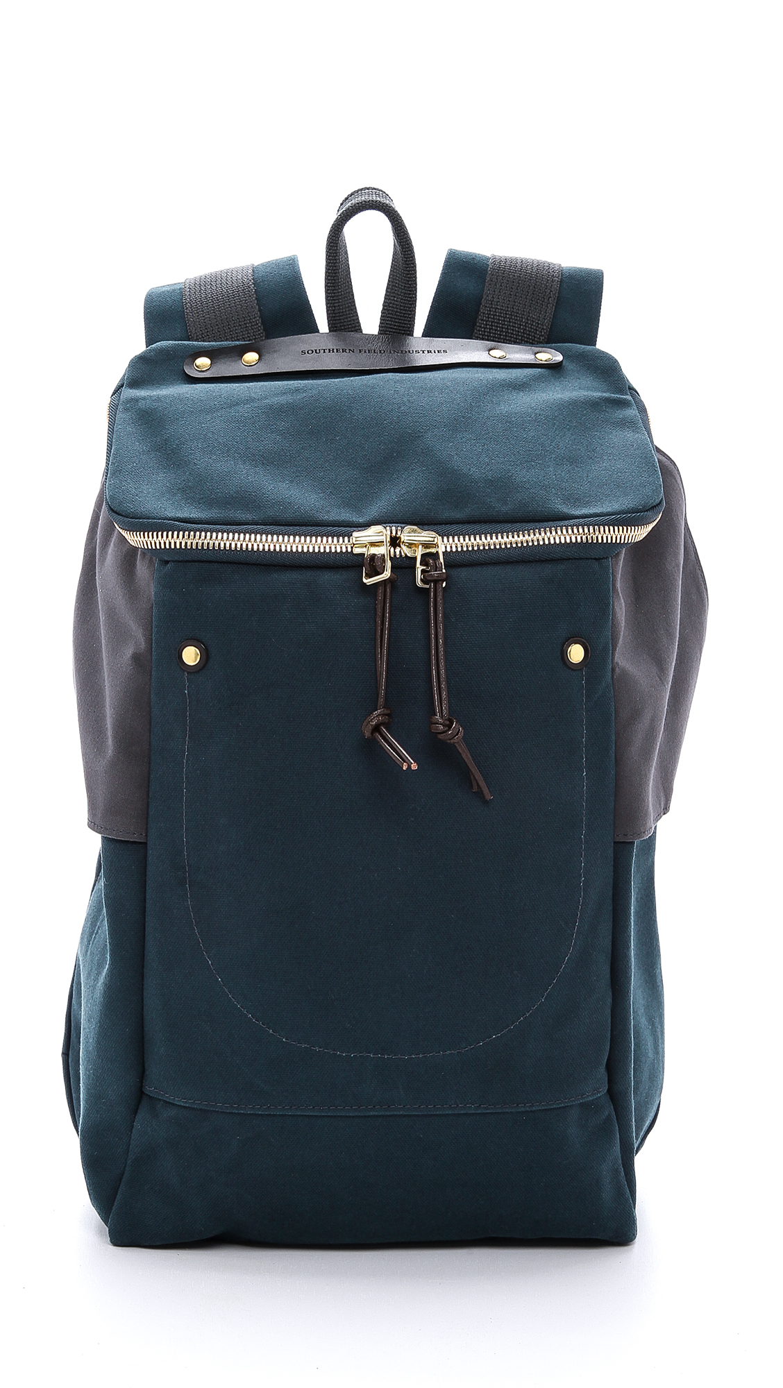 Southern Field Industries Waxed Canvas Px Backpack in Blue ...